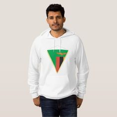 #Zambia Flag Triangle Mens Hoodie - #country gifts style diy gift ideas