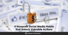 Need more engagement and more donations from your nonprofit social media. Learn 4 habits that will help raise awareness and interactions for your nonprofit. Social Media Engagement, Social Business, Fundraisers, Public Relations, Non Profit, Learning, Study, Teaching, Studying