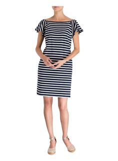 LAUREN RALPH LAUREN Kleid Short Sleeve Dresses, Dresses With Sleeves, Dame, Ralph Lauren, Dresses For Work, Style, Fashion, Stripe Pattern, Dress Work