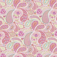Hot Pink Paisley Fabric by the Yard | Carousel Designs