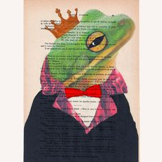 The Original Frog King   ORIGINAL ARTWORK Hand by Cocodeparis, $10.00