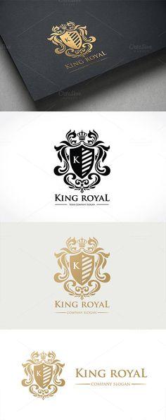 King Royal Logo by Super Pig Shop on @creativemarket