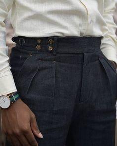 Best Mens Fashion, Mens Fashion Suits, Fashion Pants, Fashion Outfits, Men Trousers, Trouser Pants, Mode Man, Japanese Denim, Gentleman Style