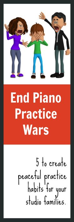 When parents register for piano lessons they aren't hoping to increase family battles. It's definitely in a piano teacher's best interest to create peaceful practice by sharing these helpful strategies #EndPracticeWars #PianoTeachersForPracticePeace #HappyPianoTime