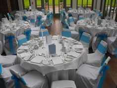 Chair Covers Morecambe Office Repair 57 Best Blue Bows Images Bow Back Turquoise Organza On White