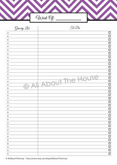 Shopping List and Checklist from the Calendars and To Do Lists Set. 20 sheets to organise your time including: perpetual calendars, weekly planners, daily planners, to do lists, a shopping list and more! 5 colours available, purchase it here: https://www.etsy.com/listing/127456040/to-do-list-and-calendar-set-perpetual?ref=shop_home_feat