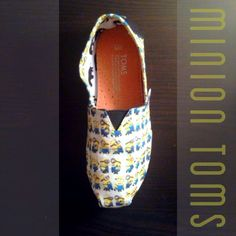 Despicable Me Minion TOMS Youth by ClarkCouturecom on Etsy, $50.00   *This was made from my (Tammy) friend's custom fabric :)