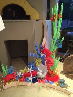 Coral reef prop but the tree with all the fruit in HEAVEN treasures in HEAVEN