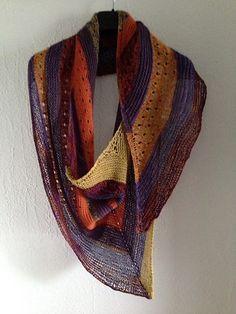 Samen by Stephen West malabrigo Lace in Violetas, Glazed Carrot, Lavanda and Frank Ochre