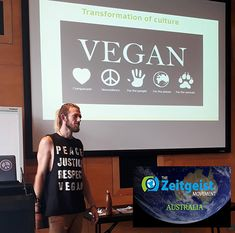 Pretty stoked to have been November's guest presenter at Zeitgeist Australia's - Future Thinkers event in Brisbane It was a massive  2hr session where I covered the environmental destruction of the Animal Ag Industry Speciesism Carnism and Veganism there were loads of questions and awesome discussion :) Check them out and get involved --> http://ift.tt/2kEzgWj & http://ift.tt/2keLyFc  @tzmglobal #zeitgeist #zeitgeistmovement #education #activists #activism #vegan #veganism #veganasfuck…