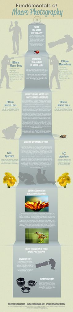 Fundamentals of macro photography #infographic