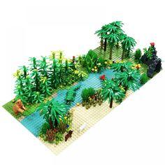 5pcs City Block Bricks Mini Bush Trees Plants DIY Action Figure Toy Kids Gift P0