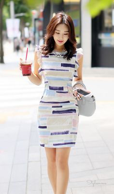 Color Block Feminine Dress #StyleOnMe #koreanfashion