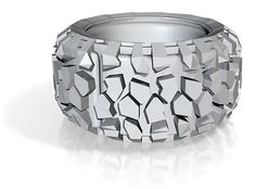 Tire tread ring, customizable in many different materials.