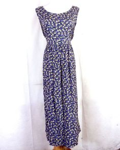 vtg 80s 90s Erika Studio Lavender Yellow Blue Rayon Tiny Floral Dress GRUNGE 44 Bodycon Dress With Sleeves, Belted Shirt Dress, Tee Dress, Elegant Dresses, Nice Dresses, Tribal Print Dress, Ruched Dress, Erika, Boho Dress