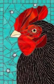 mosaic silhouette of chook - Google Search