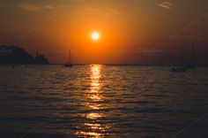 Sunset in orange by Dreamy Pixel on Creative Market