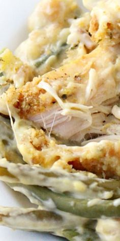 Creamy Crockpot Chicken, Stuffing and Green Beans ♥ Family Fresh Meals