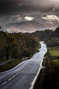 The road to Glencoe, Scotland