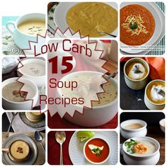 15 Delicious Low Carb Soup Recipes and a Vitamix Giveaway #lowcarb #giveaway #healthyeating