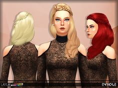 New Mesh  Found in TSR Category 'Sims 4 Female Hairstyles'