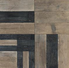 Reclaimed Wood Floors Made Modern - Remodelista To be filed under Desperately Want: cutting-edge wood floors from Los Angeles design firm Commune inspired by Nordic textiles and Bauhaus patterns. Reclaimed Wood Floors, Old Wood Floors, Timber Flooring, Floor Patterns, Textures Patterns, Floor Ceiling, Wood Stone, Into The Woods, Floor Design