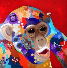 """""""ChimpJansee"""", acryl on Canvas, 90x90cm"""