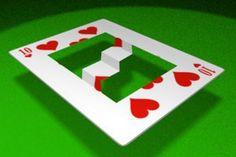 Onmogelijke speelkaart met een  trap.