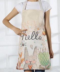 Cartoon Rabbit Cotton Linen Family Adult Child Kitchen Housework Apron Handmade  | eBay Christmas Deals, Christmas Gifts, Cartoon Rabbit, Adult Children, Handmade Home, Cotton Linen, Apron, Textiles, Kitchen