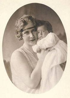 Queen Marie of Yugoslavia with her son Peter