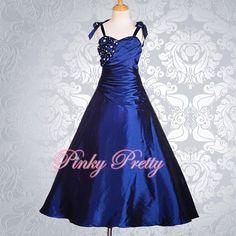 Royal Blue Flower Girl Dress Ball Gown Wedding Bridesmaid Party Sz 11y-12y FG167