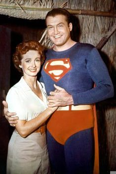 George Reeves as Superman and Noel Neill as Lois Lane (DC Comics). Superman And Lois Lane, Adventures Of Superman, Superman Man Of Steel, Real Superman, Batman, Superman Stuff, Superman Family, Brandon Routh, Christopher Reeve
