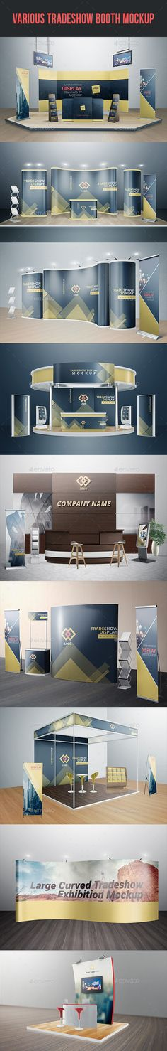 Various Tradeshow Exhibition Booth Mockups. Download here: http://graphicriver.net/item/various-tradeshow-exhibition-booth-mockups/16305060?ref=ksioks