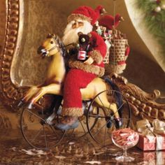 Rocking Horse Santa Figure