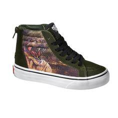 1e056076fff382 Vans SK8-HI Zip Kids Shoes (t-rex) at Black Wagon at