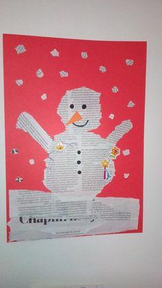 Sneeuwpop van kranten