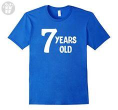 Mens Seven Years Old T-shirt | Happy Birthday 7th Shirt Medium Royal Blue - Birthday shirts (*Amazon Partner-Link)