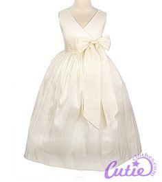 BEAUTIFUL ivory flower girl dress  :) love this for Emma! @Cathleen Scott Dunn