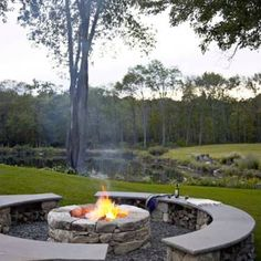 Fire pit for cold nights