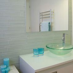 Bathroom Tile Like the sink & offset faucet