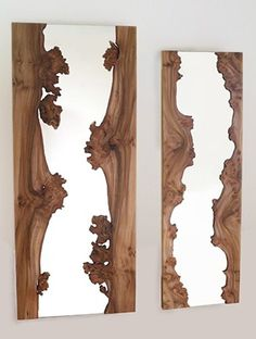 Creative wooden mirror.