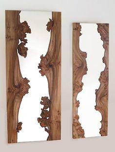Creative wooden mirror.