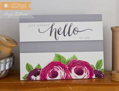 Life is what you make it. Stamp Tv, Paper Punch, Flower Cards, Paper Crafts, Place Card Holders, My Favorite Things, Creative, Frame, Flowers