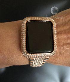 505febbcc9d Apple Watch Bezel 38mm 40mm 42mm 44mm Womens Mens Rose Gold Ice Out Bezel  Case Cover Series 1