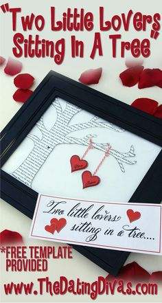 Such a unique and cute way to capture your love song... which also doubles as darling home decor!  www.TheDatingDivas.com