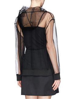 MSGM - Sheer mesh hoodie - on SALE   Black Blouses Tops   Womenswear   Lane Crawford - Shop Designer Brands Online