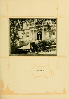 Athena Yearbook, 1925. Ellis hall is one of the oldest and largest classroom buildings on campus. :: Ohio University Archives