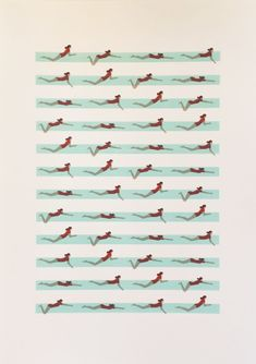 Swimmers Nadia Taylor Print Club London Screen Print