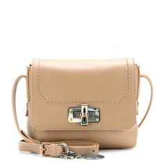 Lanvin Happy Edgy Leather Shoulder Bag (11,975 MXN) ❤ liked on Polyvore featuring bags, handbags, shoulder bags, purses, accessories, bolsas, mastic, lanvin purse, structured handbag and structured leather handbag