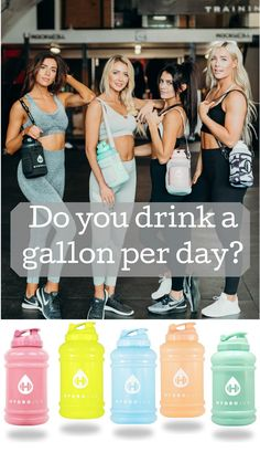 According to a study, of Americans don't drink enough water. Experts agree that the average person should drink at least gallon of water per day. Fitness Diet, Fitness Goals, Health Fitness, Average Person, Alternative Health, Get In Shape, Workout Gear, How To Stay Healthy, Health And Wellness